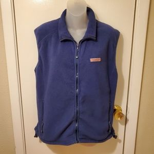 Vineyard Vines Navy Tech Fleece Harbour ZipUp Vest